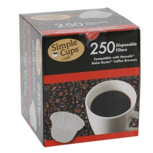 Simple Cups Disposable Filters 250 pack