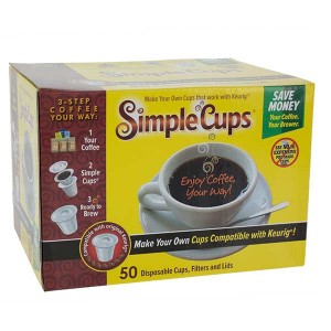 Simple Cups Disposable Filters, cups and Lids