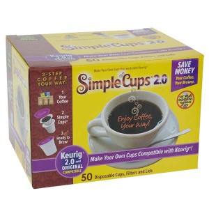 Simple Cups Disposable Cups, filters and Lids k-cups 2.0